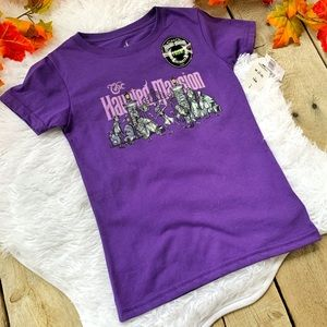 Disney Haunted Mansion Kids Short Sleeve Tee SZ M